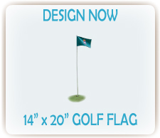 Design custom printed golf flags online
