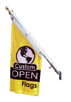 Design custom printed angled open flags online